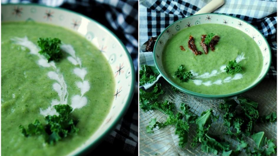 Zupa krem z jarmużu na mleku kokosowym