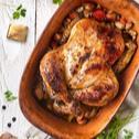 Kuře pečené na kořenové zelenině