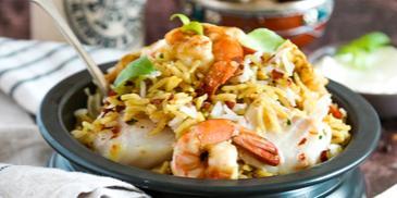 Seafood Biryani
