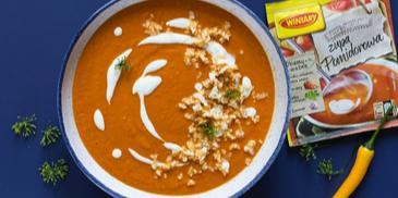 Zupa pomidorowa z kalafiorowym ryżem