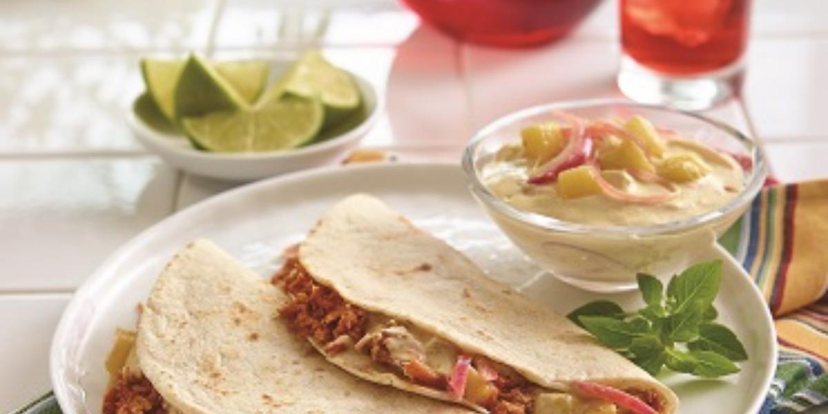 tacos de cochinita pibil deslactosado