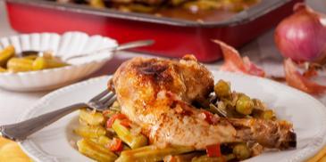 Μπάμιες με κοτόπουλο