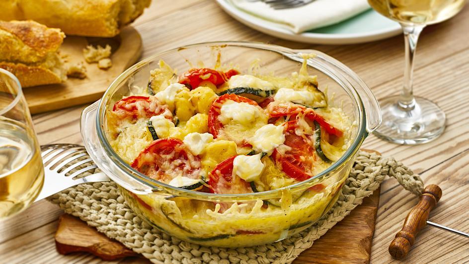 Gnocchi-Gemüse Gratin