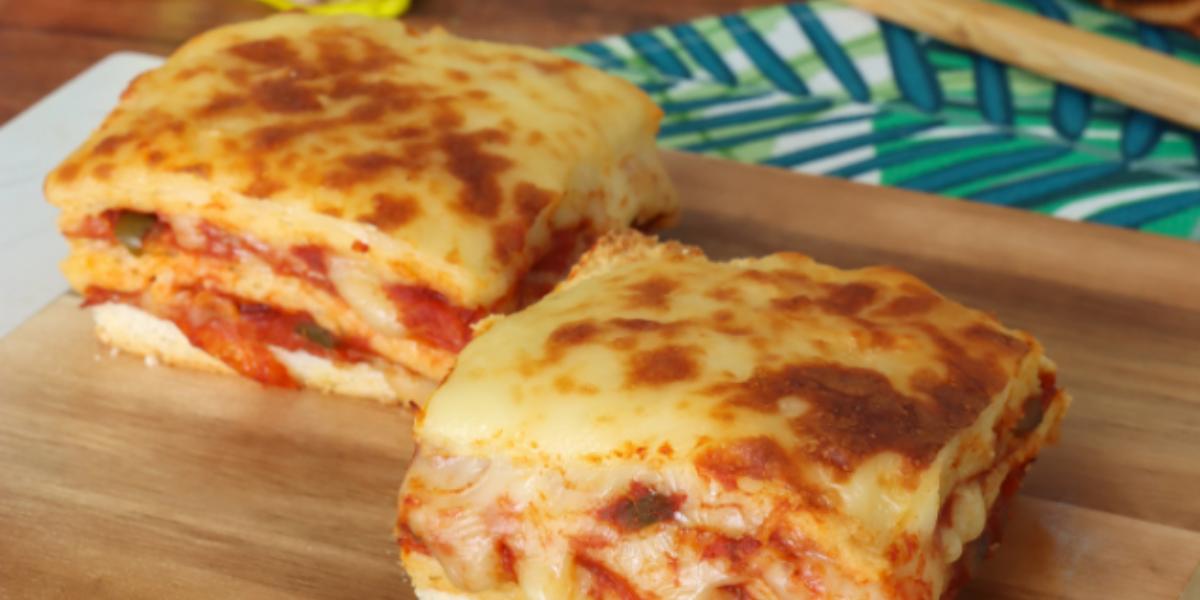 Pastel de Pizza con Pan Molde