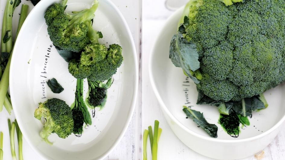 Wyjątkowy krem z brokułów z parmezanem, łososiem i grzankami czosnkowymi