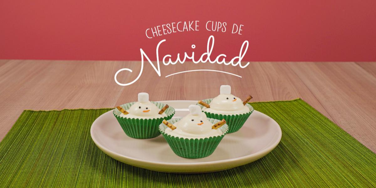 Cheesecake cups de Navidad