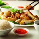 Hainanese Steamed Chicken Rice
