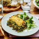 Spinatlasagne mit Schafskäse und Pinienkernen