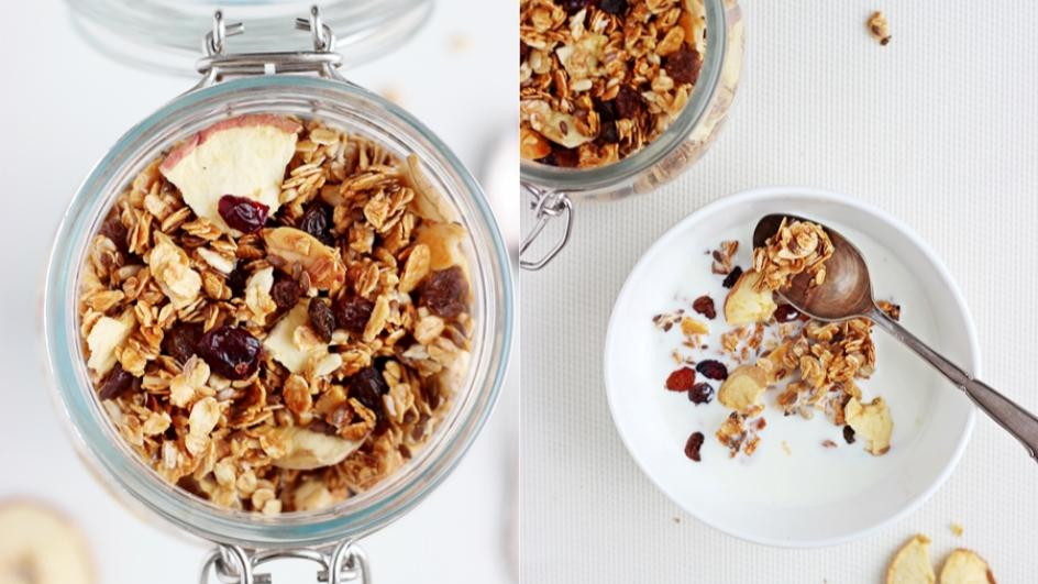 Zimowa granola do zupy mlecznej