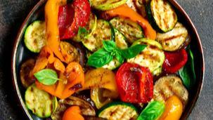 Grilovaná zelenina s hořčicovým dipem
