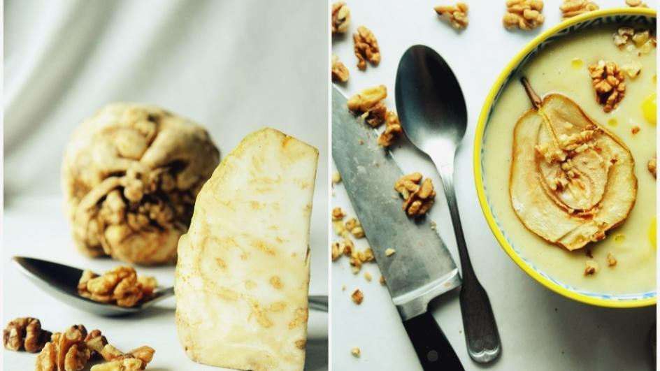 Zupa krem z selera z gruszką