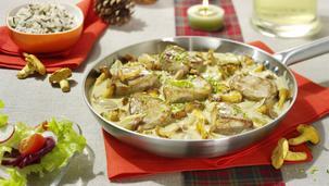 Filet-Pfännchen mit Pfifferlingen