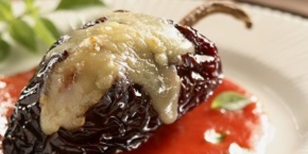Chiles rellenos gratinados