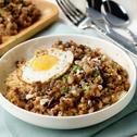 Savorventure Quick Sisig Rice with Crispy Egg