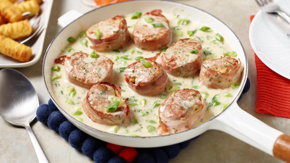 Medaillons mit Bacon und Senf