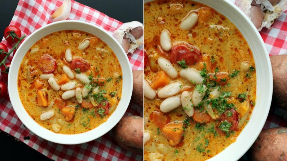 Zupa fasolowa z batatami