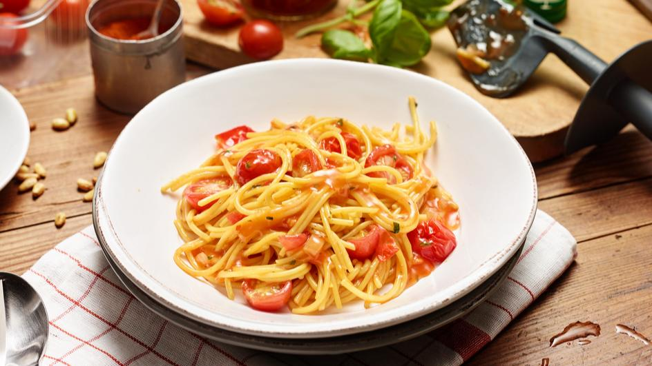 "Spaghetti Napoli  ""all in one"" aus dem Thermomix"