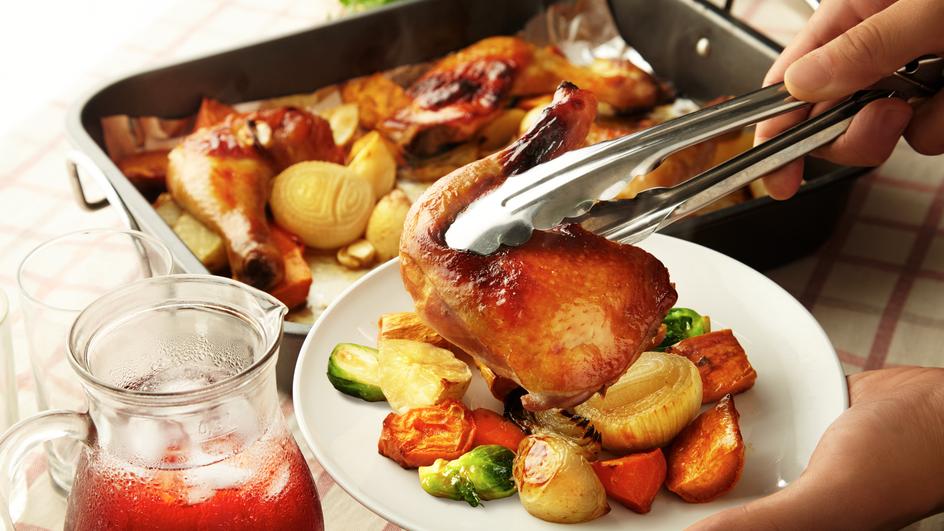 Ayam Bakar dengan Sayur