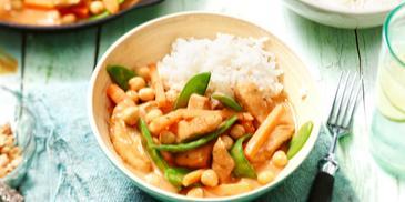 Asiatische Gemüsepfanne mit Hähnchen