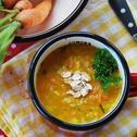 Zupa marchewkowa z płatkami owsianymi