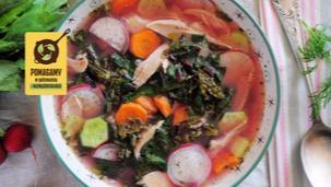 Zupa wiosenna z kurczakiem