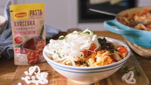 Tofu z pastą paprykową po azjatycku