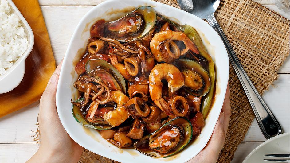 Supreme Seafood Adobo