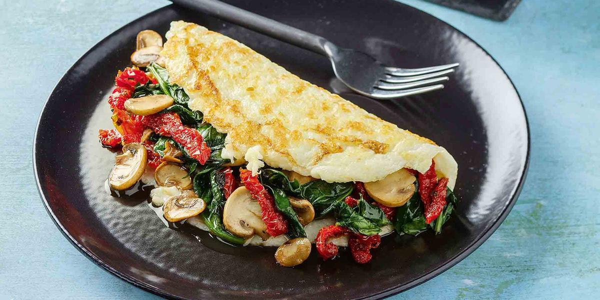 Omelette de claras con vegetales
