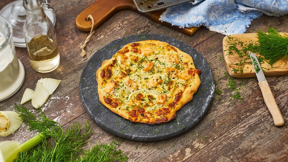 Skandinavische Mini Pizzen mit Fenchel