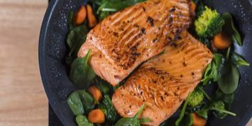 Pan Fried Salmon With Sweet Potato