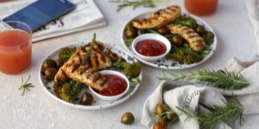 Grillitud kanaampsud brokoliga