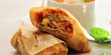 Soya Shammi Kathi Roll Recipe