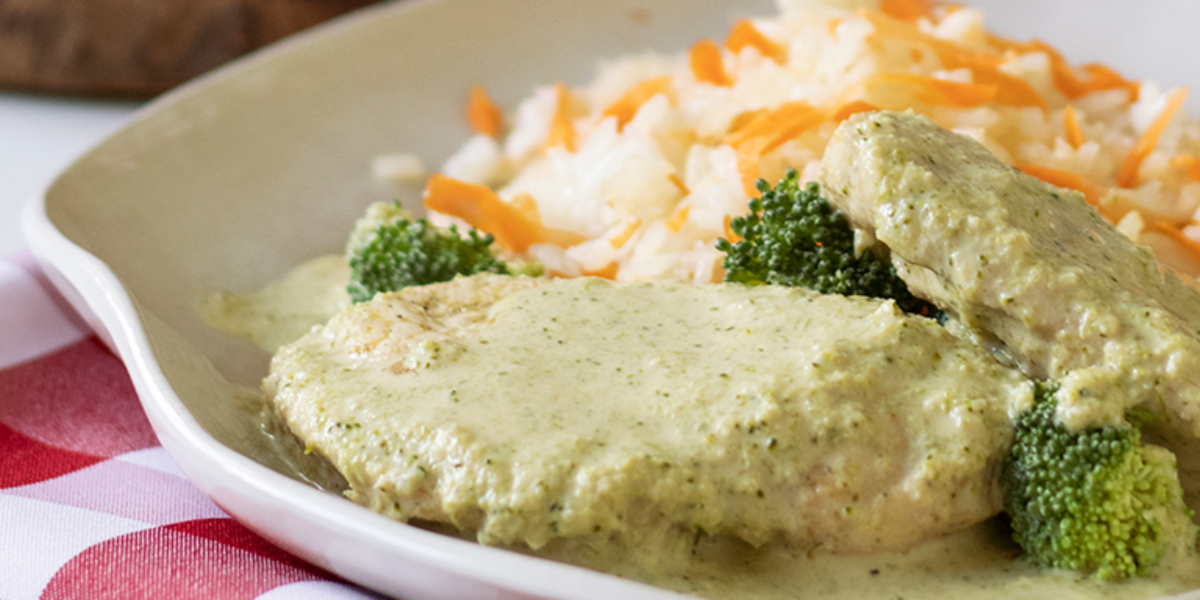 Pollo en Salsa de Brócoli