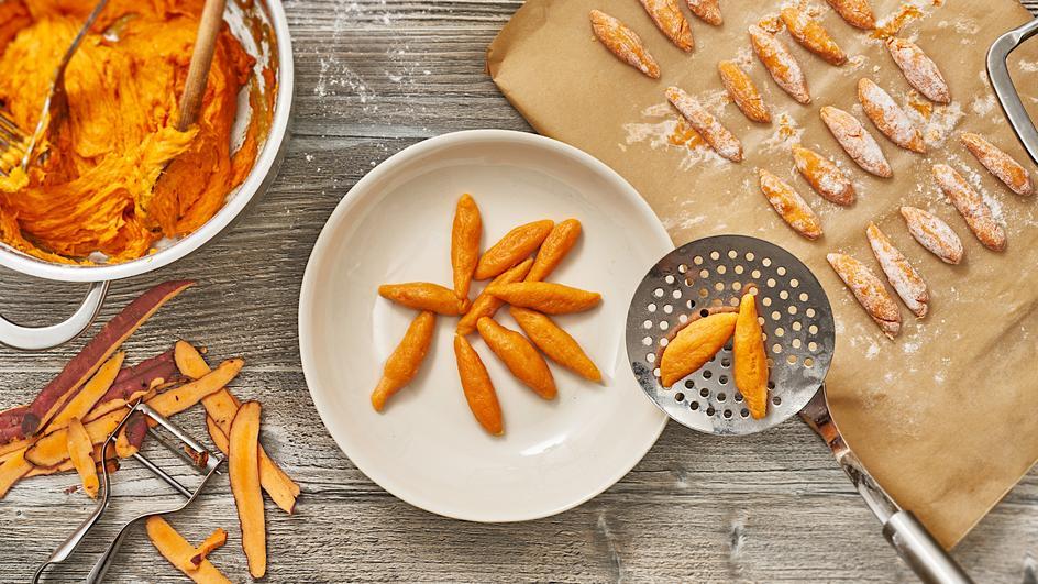 Süßkartoffel Schupfnudeln