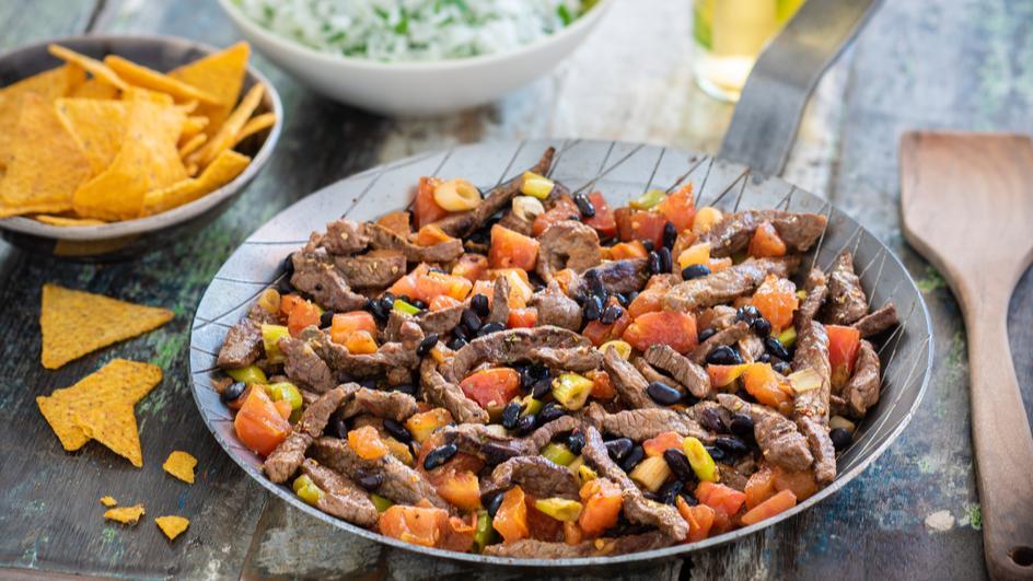 Chili con Beef mit schwarzen Bohnen