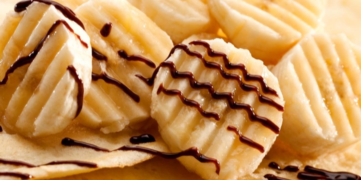 Crepes con banano y chocolate