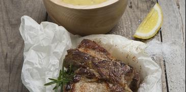 Καρέ χοιρινό με σάλτσα μουστάρδας
