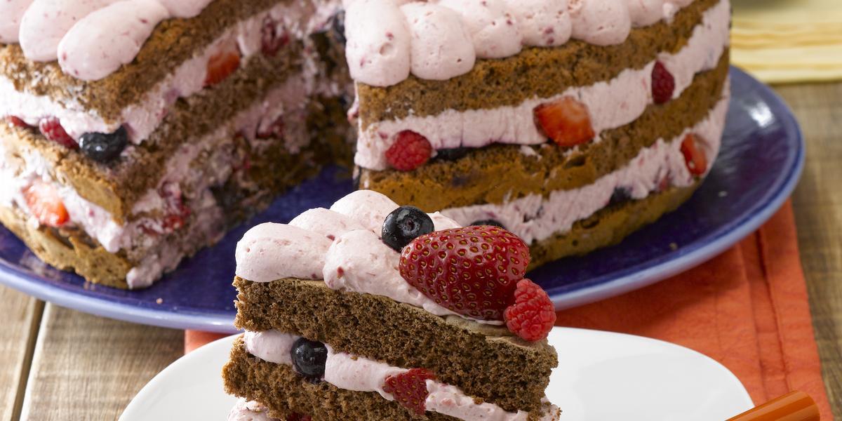 Torta de Berries sin Azúcar