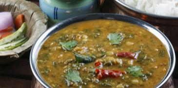 Sindhi Chana Dal With Palak Sai Bhaji Recipe