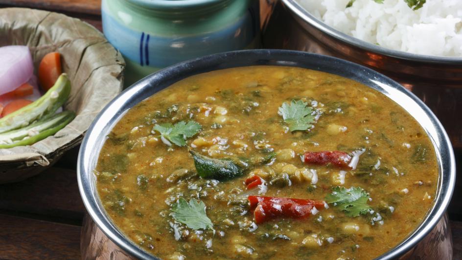 Sindhi Chana Dal With Palak Sai Bhaji Recipe