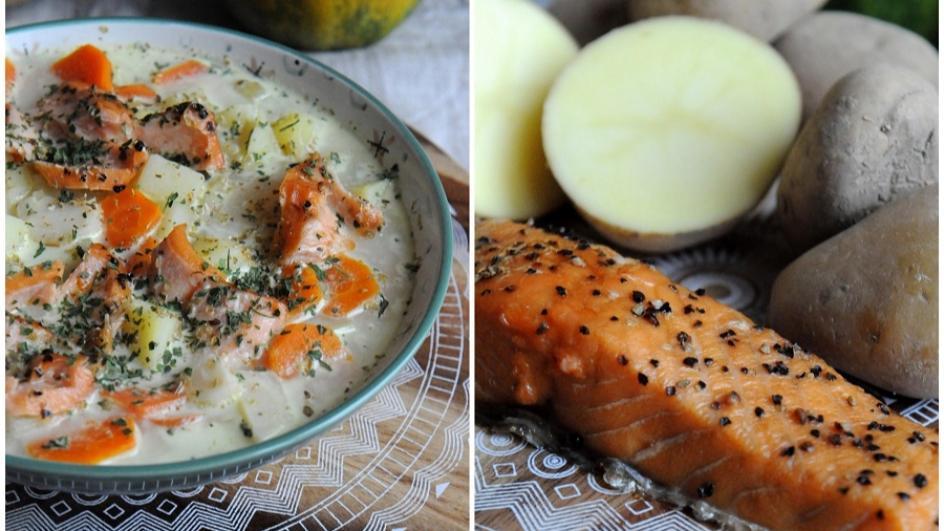 Kartoflanka z łososiem