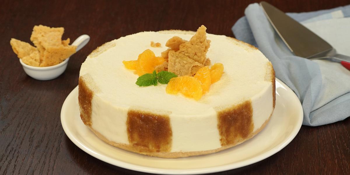 Cheesecake de azahar y naranja