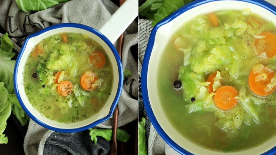 Lekka i szybka zupa z młodej kapusty