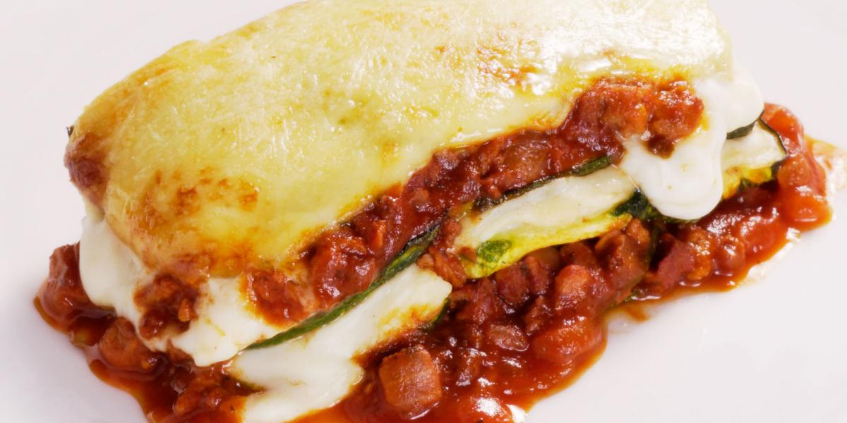 Lasaña de Zapallos Italianos con Carne Vegetal