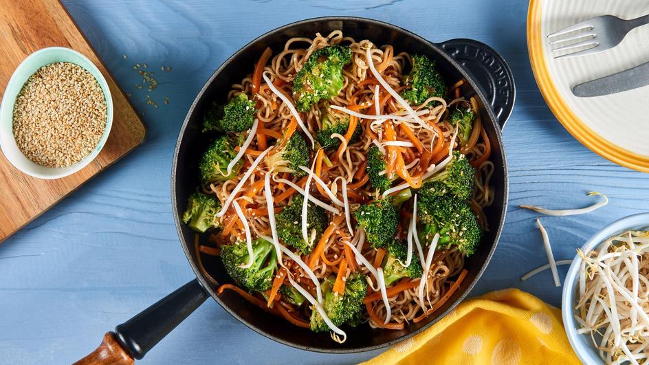 Schnelle Asia-Gemüse-Pfanne