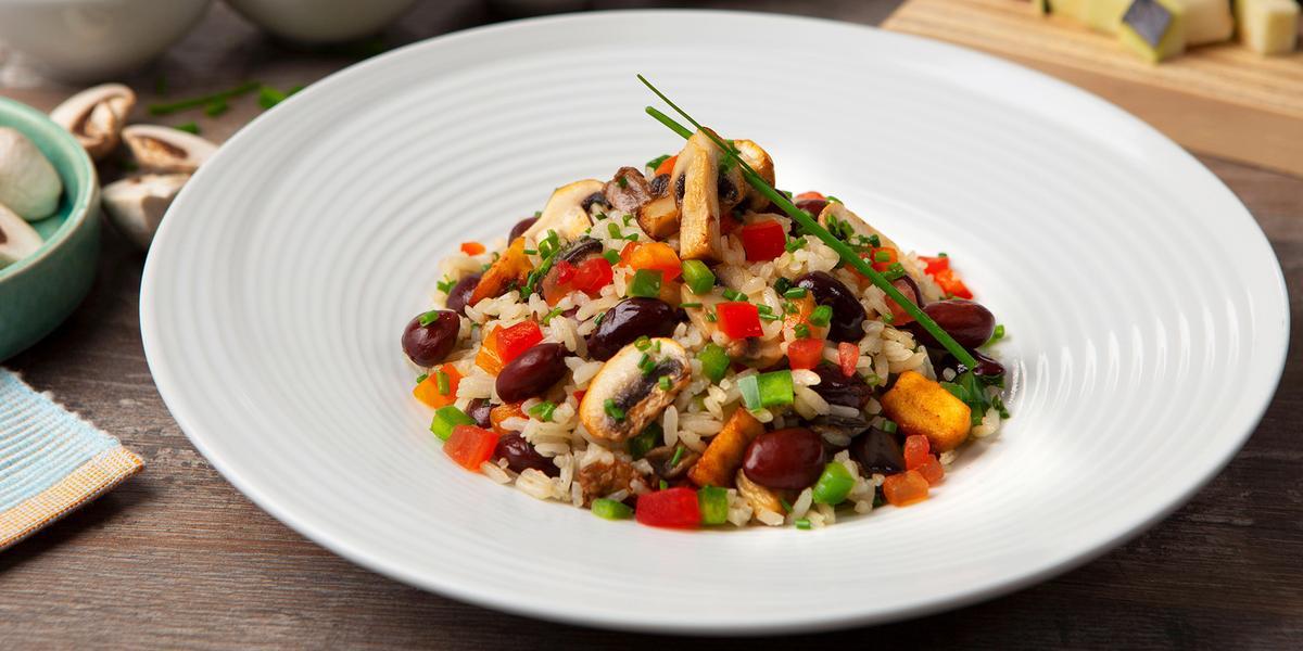 arroz paisa vegetariano