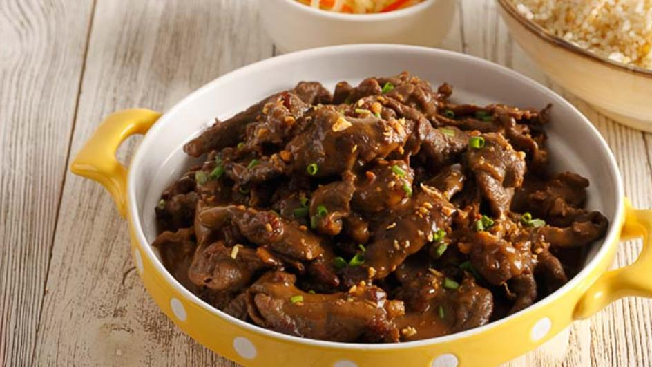 Beef Tapa with Coconut Cream |