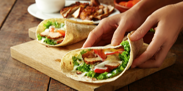 Yogurty Chicken Sambal Wrap