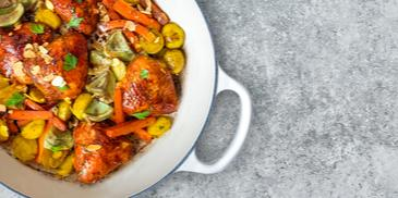 Chicken Thighs With Vegetables Balsamic Glazed