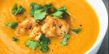 Zupa krem warzywny z kurczakiem
